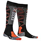 X-Socks Ski Light 4.0 Invierno Calcetines De Esquí, Hombre, Black/x-Orange, 42/44