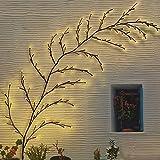 NEWNEN Solarlampen für Außen Garten, 144LED Baumrebe Lampe dekorative Weihnachten Mauer Party Hochzeit, 7.5ft (Warmweiß)