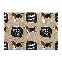 98ピース ジグソーパズル ビーグル犬 ブラウン 木製パズル 脳チャレンジ Diyの家の装飾 特別プレゼント 楽しい遊び ピクチュアパズル(20x29cm)