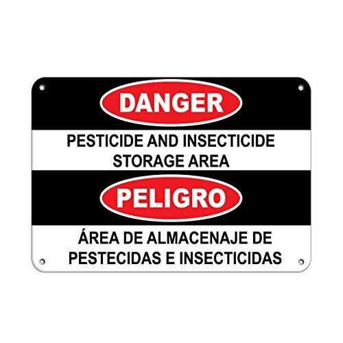 Kysd43Mill Señal de advertencia de peligro de plaguicidas e insecticidas, letrero de...