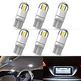 194 LED Car Bulb 3030 Chipset 2SMD T10 194 168 W5W LED Wedge Light Bulb 1.5W 12V License Plate Light Courtesy Step Light Trunk Lamp Clearance Lights (6pcs/pack)