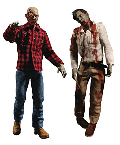 Mezco Toys One: 12 Collective: Dawn of The Dead Fly Boy & Plaid Zombie Action Figure 2 Pack