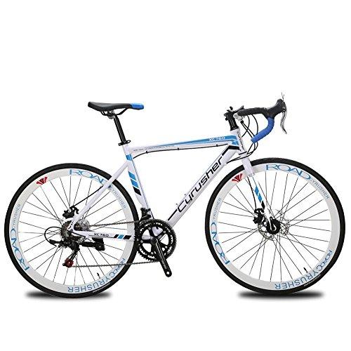 Cyrusher XC760 Races Road Bike 52cm Aluminium Frame 14 Speed 700C Shimano Shifting System Disc Brakes