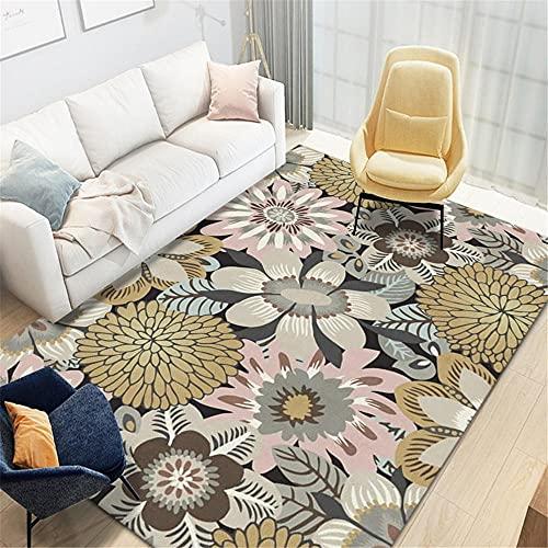 alfombras de habitacion grande Gris Alfombra de la sala de estar gris desordenadas grandes flores modernas durables alfombras antideslizantes cuadro decoracion habitacion 40X60CM dormitorios matrimoni
