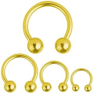 * nuevo Y Sellado-Oro Titanio 3mm Bola Perno par pendientes