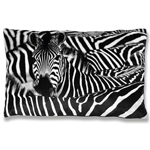 Bestlivings 2er Pack Kissenbezug Fotodruck Motiv in ca. 40x60cm, in vielen Motiven erhältich (Design: Zebra)