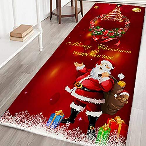 Weihnachtsmatten und Teppiche Flanellgewebe Rutschfeste Gummirückseite Saugfähiger Badteppich Home Kitchen Floor Mat