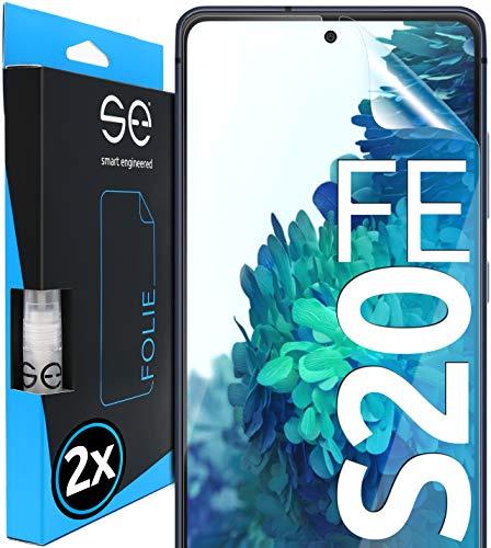 [2 Stück] 3D Schutzfolien kompatibel mit Samsung Galaxy S20 FE, hüllenfre&liche durchsichtige HD Bildschirmschutz-Folie, Schutz vor Dreck & Kratzern, kein Schutzglas - smart Engineered