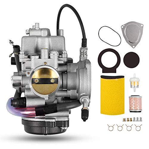 Carburetor with Air/Oil Filter Compatible with 2002-2006 Yamaha Big Bear Wolverine Kodiak Grizzly 400 YFM 400 YFM400