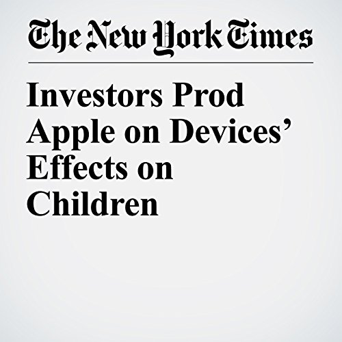 Investors Prod Apple on Devices' Effects on Children copertina