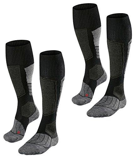 FALKE Herren SK1 Skisocken Skistrümpfe Comfort Skiing 16506 2 Paar, Farbe:Schwarz;Sockengröße:46-48;Artikel:16506-3010 black-mix
