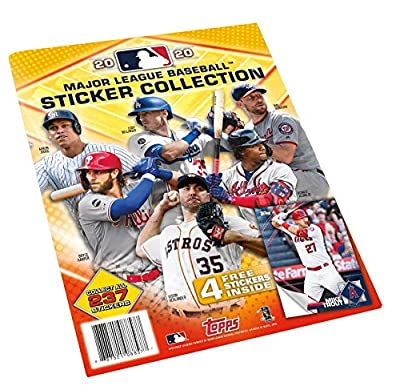 2020 Topps MLB Baseball Sticker Collection Album (includes 4 starter stickers inside)