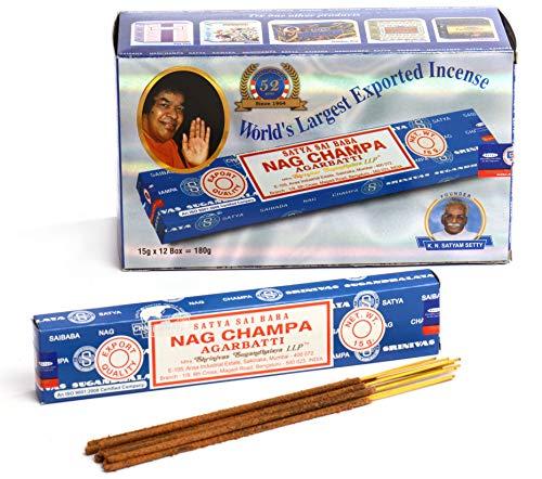 Satya Nag Champa Incense Sticks 15 gms (Special 12 Pack)