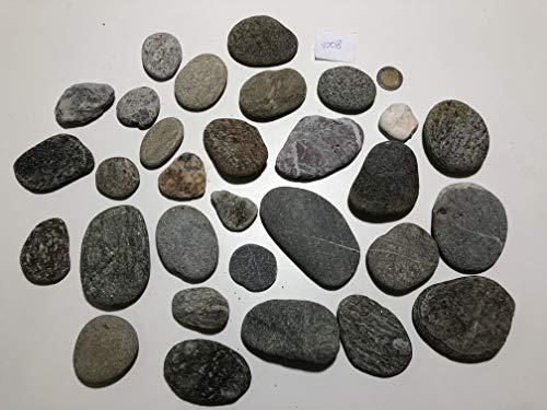 MEIERLE & Söhne 30 piedras planas de río, piedras de río, piedras decorativas para manualidades, pegadas, pintar.