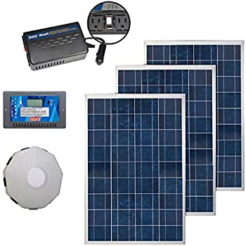Amazon Com Coleman 100w Solar Panel With 8 5 Amp Charge Controller Garden Outdoor