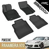 3D MAXpider para Porsche Panamera Executive 970 2013-2016, Aptas para Todas Las Condiciones Climáticas, Alfombrillas de Goma de Coche (Juego de Alfombras, Color Negro).