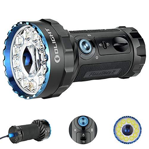 OLIGHT Marauder 2 Taschenlampe Sehr Hell 14,000 Lumen 13 x LEDs Leistungsstarke USB Wiederaufladbare Taschenlampen Lampe, Typ C Schnellladung, für Draussen Suche Rettung Camping Licht
