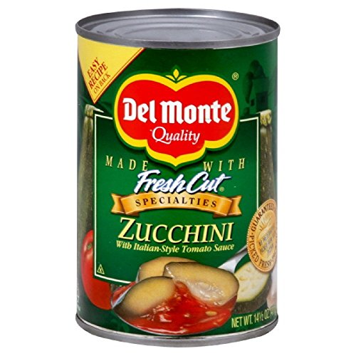 Del Monte Canned Fresh Cut Zucchini with Italian Style Tomato Sauce, 14.5 Ounce