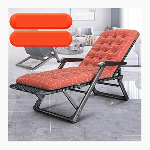 Haozai 0304 Schommelstoel, inklapbare ligstoel, zonnebed, instelbaar, draagbaar, vrijetijd, strandstoel, bureaustoel, ligstoel met bekerhouder en afneembaar kussen (5 kleuren)