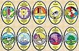 Oracle du Regard - Jeu de 68 Cartes - Cartes de voyance avec Explication complète des 68 Lames (livret en FR) - Jeu divinatoire à découvrir