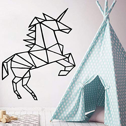 Geometric horse wall stickers animal vinyl decals removable wall decoration abstract artist home decoration 42X51cm