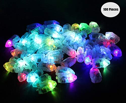 Yuccer LED-Ballons Lichter, Mini LED Licht Bunt Beleuchtung für Papierlaternen Ballons Hochzeit Party Blumen Dekoration Balloon Lights 100 Pack (B Kugel)