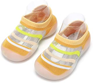 HOWELL Baby Summer Thin Mesh Cotton Sock Non-Skid Breathable Slipper Floor Sock Shoes with Rubber Soles Lightweight First ...