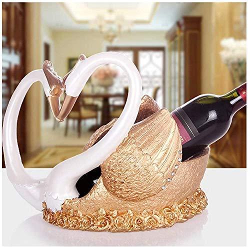 Estatua Estante de Vino Resina Sala de Estar Hogar Botella de Vino Soporte de exhibición Moderno Minimalista Moda Decoración del hogar Accesorios de Vino, Plata