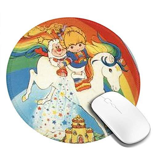 Mouse Pad Round Mouse Mat Rainbow Bri-Te Stardust Small Mouse Pad Desk Accessories Office Decor Desk Decor