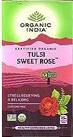 Organic India Tea Tulsi Sweet Rose - 25 ティーバッグ