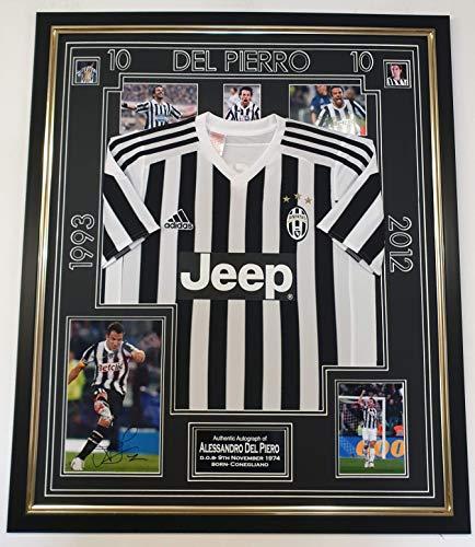 Andrea Pirlo foto met ondertekende Juventus Shirt * met Aftal Certificaat