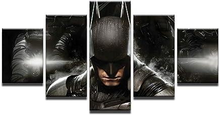 Declea La pintura moderna Batman Superman listo para colgar cuadro superheroe la lona de arte moderno en el marco de madera decoraci/ón de la pared Dise/ño