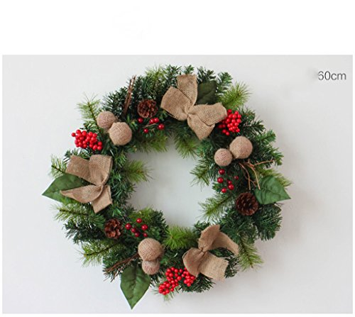 Amazing Deal LAOHAO Christmas Decoration Wreath Linen Christmas Decoration Christmas Wicker Wreath D...