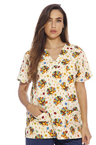 Just Love 216V-8-1X Women's Scrub Tops/Holiday Scrubs/Nursing Scrubs