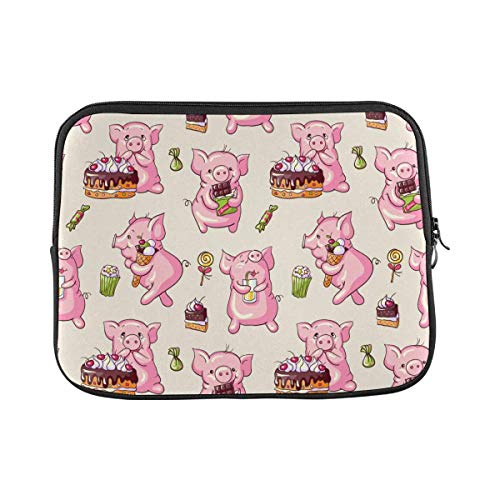 Cartoon Pigs Laptop Sleeve Case 11 11.6 Inch Briefcase Cover Protective Notebook Laptop Bag