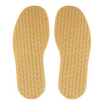 MIIDII Shoe Bottom Full Sole Repair Replacement Anti-Slip Rubber 4mm Thickness 1 Pair Natural