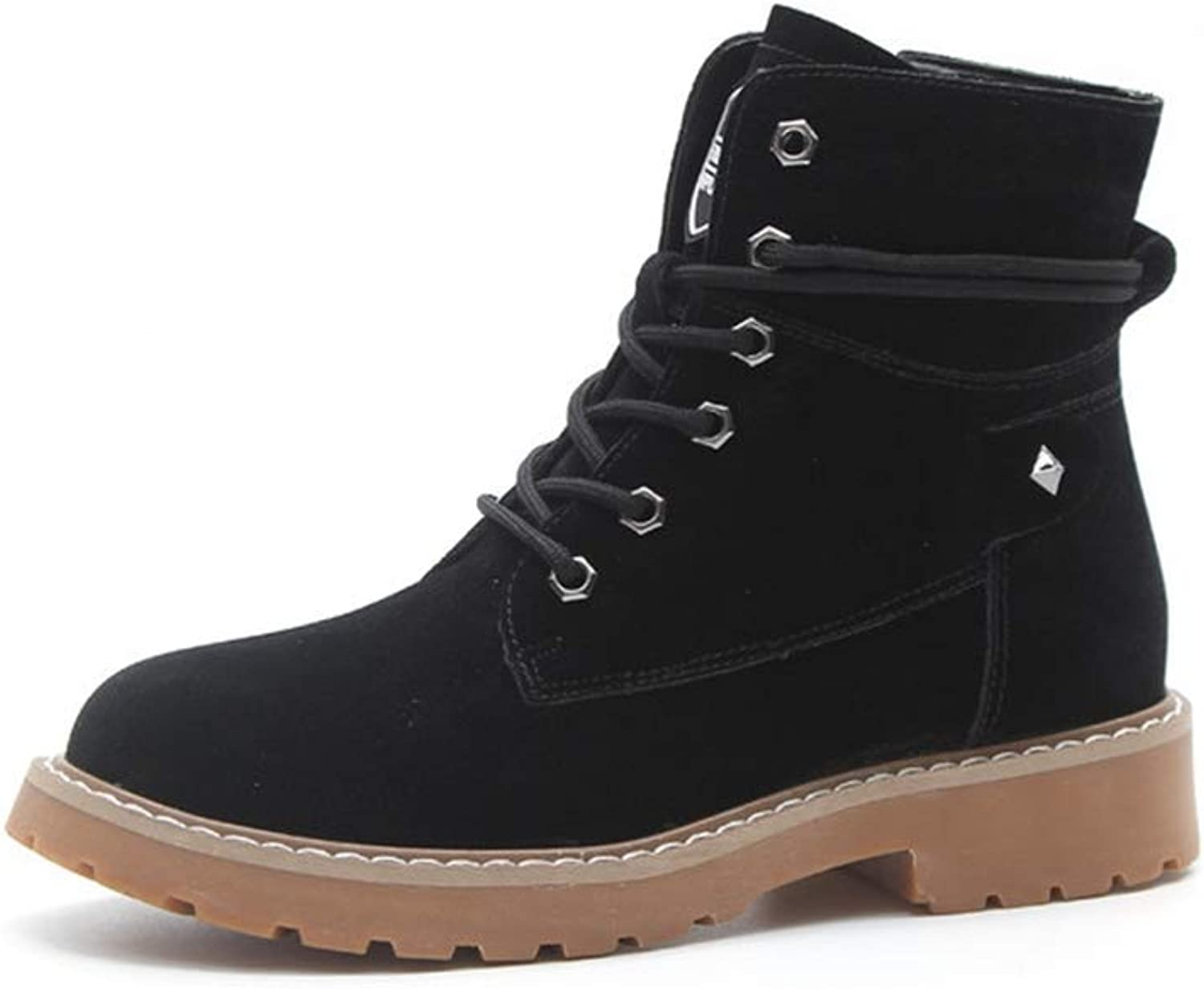 Kyle Walsh Pa Women's New Martin Boots British Boots, Female Students Autumn high Help Plus Velvet Warm Boots
