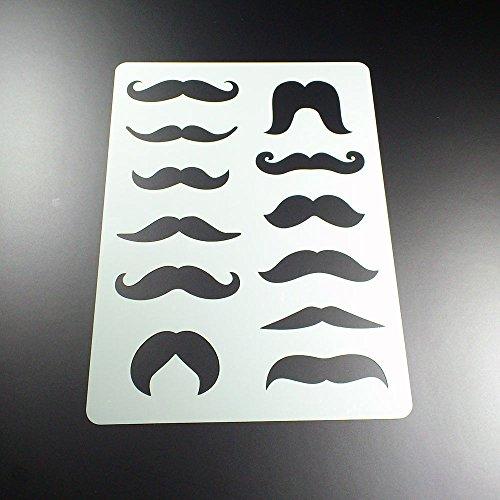 Schablone Moustache Schnurrbart 12 Bärte - BA03