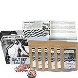 Salz Probierset Natursalze der Welt Geschenkbox   Salz Weltreise Geschenkidee Geschenkset für Frauen Männer   Salz Box Geschenk Box Geburtstag Weihnachten