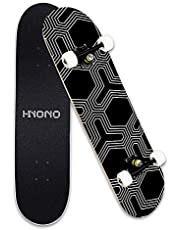 """Scientoy Skateboard, Beginner Skateboards, 31"""" x 8"""" Complete Pro Skateboard with Repair Kit for Kids/Boys/Girls/Youth/Adults, 9 Layer Canadian Maple Double Kick Skateboard for Outdoors"""