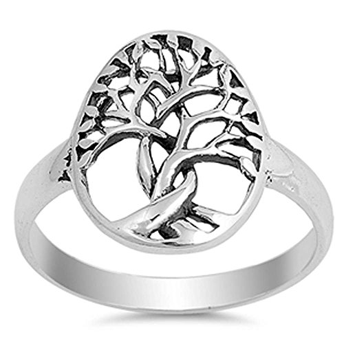 Oxford Diamond Co Plain Intertwine Family Tree .925 Sterling Silver Ring Size 6