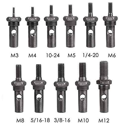 WETOLS 11Pcs Rivet Nut Tool Replacement Mandrels, Rivet Nut Tool Accessories Set M3 M4 M5 M6 M8 M10 M12, 10/24, 1/4-20, 5/16-18, 3/8-16 Rivet Nut Tool Spare Parts, WE-812