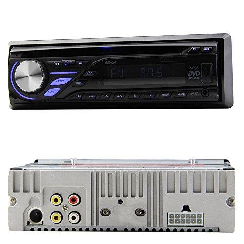 Pupug AUDIO OUYD593B1 Einzel-DIN-Autoradio-CD-DVD-Spieler FM-Empf?nger Abnehmbare Frontpanel LCD-Schirm-Auto-Radio mit Wireless Remote