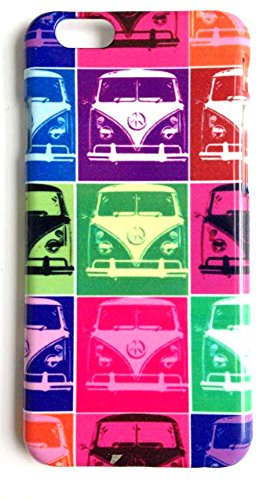 Custodia cover per iPhone 6, 6S, Plus, 5, se, 5s camper pop art Funky pattern Cool, PLASTICA, iPhone 6 6S