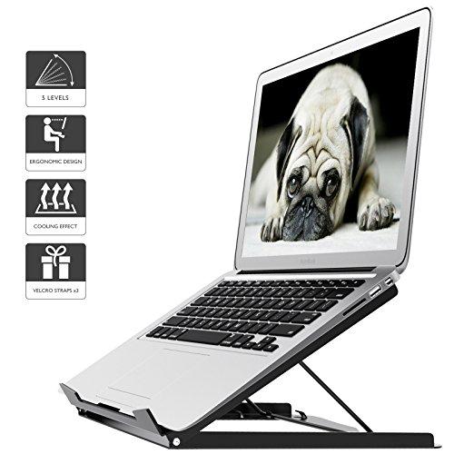 1home Soporte portátil ergónomico Ajustable para computadora portátil y MacBook