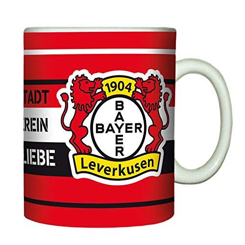 Bayer 04 Leverkusen Tasse - Meine Stadt - Kaffeetasse, Kaffeepott, Mug - Plus Lesezeichen Wir lieben Fußball