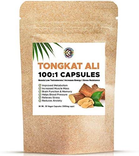 Tongkat Ali Extract Capsules 30 Vegan Capsules Superior LongJack Improved Metabolism and Increase product image