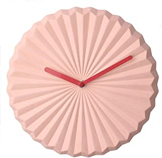 Home Wall Clocks 10-inch Pink No Arabic Digital Wall Clock Wave Pattern Wall Clock Home Office Decorations