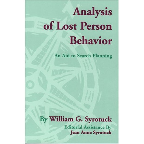Book's Cover of Analysis of Lost Person Behavior (English Edition) Versión Kindle