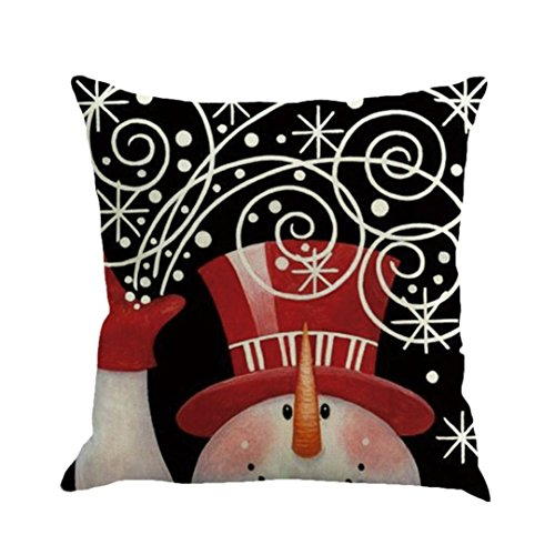 Christmas Pillow Cases, Boomboom Cute Snowman Christmas Pillow Cases for Sofa Bed Home Decor (F)